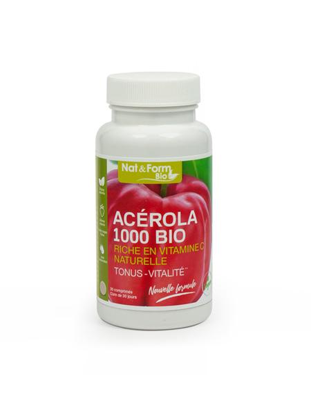 image Acérola 1000 Bio 30 comprimés