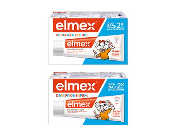 image Elmex® Dentifrice Enfant Lot de 2 tubes de 50 ml