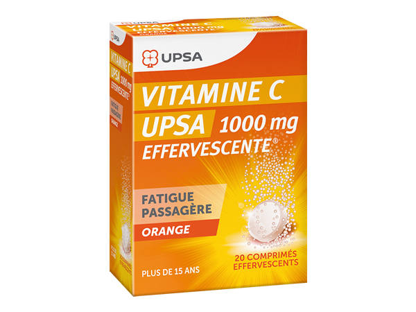 image Vitamine C UPSA 1000 mg Boîte de 20 comprimés effervescents